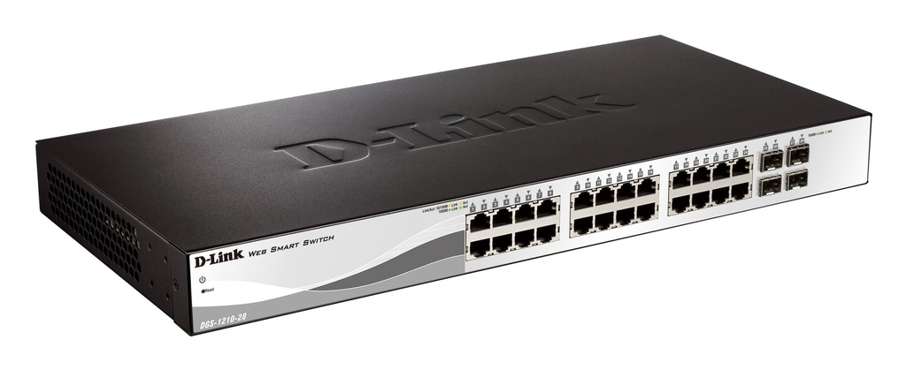 D-Link DGS-1210-28 24-Port 10/100/1000Base-Twith 4 Combo 1000BaseT/SFP ports Smart Switch
