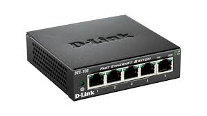 D-Link DES-F1006P-E/B 6-port Fast Ethernet Unmanaged Long Range 250m PoE+ Surveillance Switch with 4 PoE ports