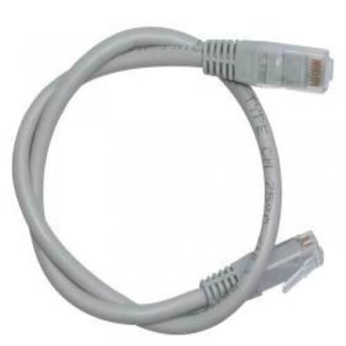 D-Link Cat6 UTP 24 AWG PVC Round Patch Cords- 0.5m- Grey Colour