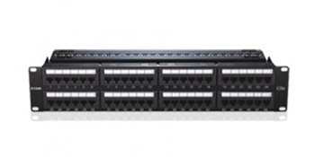 D-Link 48 Port Cat6 Unshielded Fully Loaded Punch Down Patch Panel - Keystone Type - 2U - Black Colour