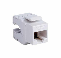[NKJ-C6TWHI1B21] D-Link Cat6 UTP 180 Tool-Less Keystone Jack - White Colour