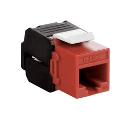[NKJ-6ARED1B21] D-Link Cat6A - 10G UTP 180 Tool-less Keystone Jack - Red Colour