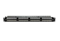 [NPP-C61BLK242] D-Link 24 Port Cat6 Unshielded Angular Fully Loaded Punch Down Patch Panel - Keystone Type -1U- Black Colour