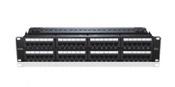 [NPP-C61BLK481] D-Link 48 Port Cat6 Unshielded Fully Loaded Punch Down Patch Panel - Keystone Type - 2U - Black Colour