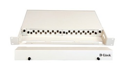 [NLU-FMSLSCR-12] D-Link LIU 12 Port Rack Mount Patch Panel loaded with 12 Simplex SC Multimode Adapters- Fixed