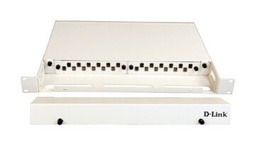 [NLU-FSSLSCR-12] D-Link LIU 12 Port Rack Mount Patch Panel loaded with 12 Simplex SC Single Mode Adapters- Fixed