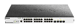 [DGS-3000-28XMP] D-Link DGS-3000-28XMP 24 10/100/1000 Mbps PoE ports + 4 10G SFP+ ports Managed L2 Metro Ethernet Gigabit Switch, (802.3af/802.3at support), 370W PoE Power budget