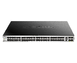 [DGS-3130-54S] D-Link DGS-3130-54S 48 SFP and 2 10G BASE-T + 4 10G SFP+ ports, Lite L3 Stackable Managed Switch (stacking cable not included)